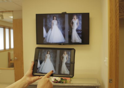 Our iPad Technology that brides use to view and select the gowns they want to try on.