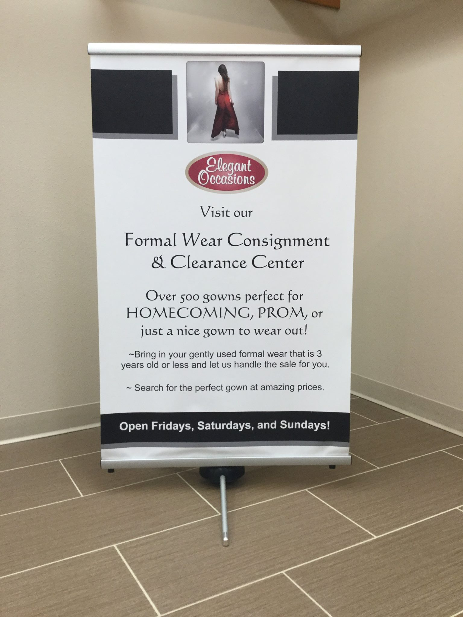 Consignment & Clearance - Elegant Occasions